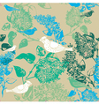 Vintage Birds Floral Pattern vector image vector image