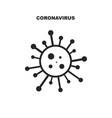 virus cartoon icon with minimalistic inscription vector image vector image