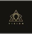 vision logo icon eye and lightbulb logo icon vector image