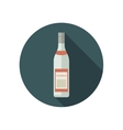 Vodka icon in flat style