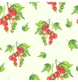 Watercolor seamless background with red currants vector image vector image