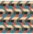 wavy geometric ornament vector image vector image