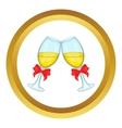 Wedding glasses icon vector image vector image
