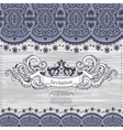 Wedding Invitation with lace decoration vector image vector image