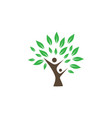 wellness tree logo icon design template vector image