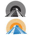 ancient pyramids vector image