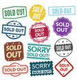 sold out stamps vector image