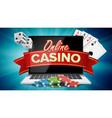 online casino poster modern laptop concept vector image