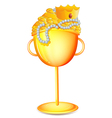 A golden cup with gold treasures vector image