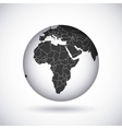 african continent design vector image