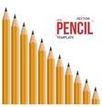 Photorealistic Graphite Office Pencil vector image