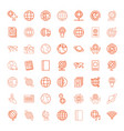 49 world icons vector image vector image