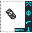 70 percent discount icon flat vector image vector image