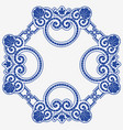 abstract ornamental pattern is template vector image