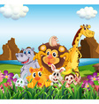 Animals in the field vector image vector image