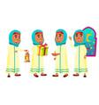 arab muslim girl set celebrating ramadan vector image