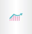 arrow growth chart symbol vector image