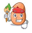 artist character broken egg on floor cartoon vector image