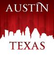 Austin Texas city skyline silhouette vector image vector image