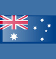 australia flag official colors and proportion vector image