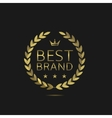 Best Brand label vector image