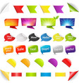 Big Set Stickers And Ribbons vector image
