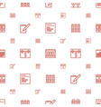 binder icons pattern seamless white background vector image vector image