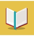 book read library design vector image vector image