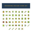 branding and design icon set with filled outline vector image vector image
