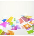 Bright colorful abstract square elements fly vector image
