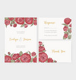 bundle of elegant wedding invitation response vector image