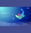 chatbot isometric chat bot vector image vector image