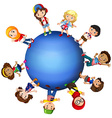 Children around the world vector image vector image