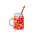 cocktail with pomegranate raspberry carrot in vector image vector image