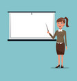color background executive woman in work vector image