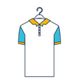 color blue and yellow sections silhouette of polo vector image vector image