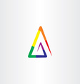 colorful rainbow triangle logo abstract business vector image vector image