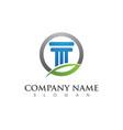 column logo template vector image vector image