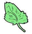 comic cartoon leaf symbol vector image vector image