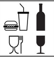 commodity conventional signs fastfood restaurants vector image