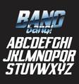 cool alphabet lettering font - bang bang vector image vector image