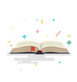 covered opened book with pages vector image vector image