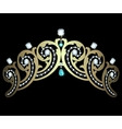 Diadem with diamonds and aquamarines vector image vector image