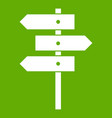 direction signs icon green vector image vector image