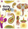 diwali set pattern vector image