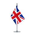 english flag hanging on the metallic pole vector image