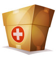 funny medicine box for ui game vector image vector image
