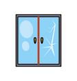 glass window broken icon vector image