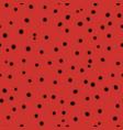hand drawn dots endless texture with black circles vector image vector image