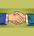 handshake deal business agreement vector image